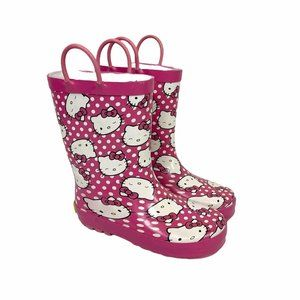 Western Chief Hello Kitty Pull On Rubber Rain Boot